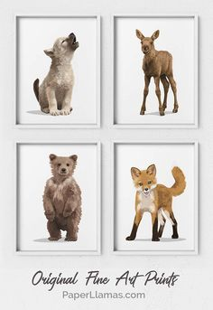 Baby Moose - Baby Nursery Boy , Baby Moose This Baby wolf, Baby moose, Baby fox, and baby grizzly bear cub work great in a little boys camping woodland adventure themed nursery. Baby Boys, Baby Boy Rooms, Baby Boy Nurseries, Baby Boy Nursey, Baby Bedroom, Bear Nursery, Nursery Art, Boy Nursery Themes, Baby Nursery Ideas For Boy