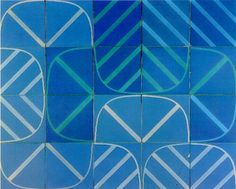 Azulejo, Portugal Handmade tiles can be colour coordinated and customized re. shape, texture, pattern, etc. by ceramic design studios