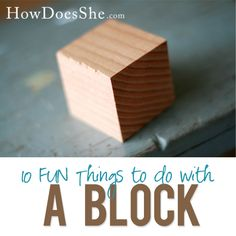 10 Cute Crafts/Gifts to Make with a Block of Wood! #woodencrafts #homemade #gifts from HowDoesShe.com
