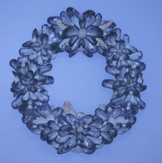 Coastal Shores Extra Large Blue Mussel Shell Wreath by nancylee97, $100.00