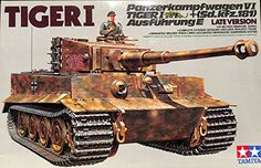 Buy Tamiya: German Heavy Tank Tiger I (Late Ver.) - Model Kit at Mighty Ape NZ. Tamiya: German Heavy Tank Tiger I (Late Ver.) – Model Kit During WWII, the German Tiger I was greatly feared by Allied forces for its thick armo. Tamiya Model Kits, Tamiya Models, Model Cars Kits, Mg 34, Tiger Ii, Ferdinand Porsche, Ww2 Pictures, Tiger Tank, Tank Destroyer