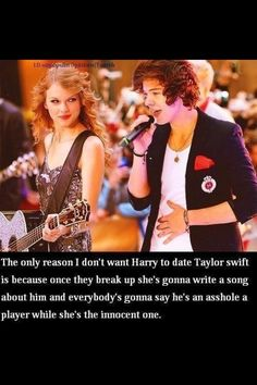 my agrument to a tee, i like taylor because shes pretty and alot of her music is relatable, but i just dont want it to end badly for harry!