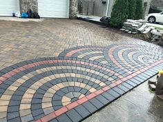 Park Place Pavers updated this driveway with beautiful Cambridge Pavingstones with ArmorTec. The year to update your property is 2016!