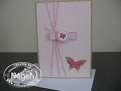 Stampin' Up! Elegant Butterfly punch, Bitty Butterfly punch, Modern Label punch, A Fitting Occasion stamp set
