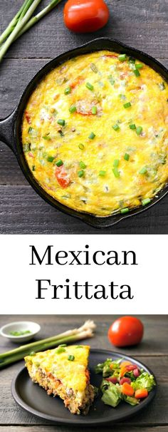 This Mexican frittata recipe is an easy, delicious meal. Try this gluten-free recipe for a healthy dinner or hearty breakfast. via @realfoodrecipes