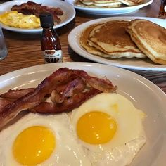Pure maple syrup and pancakes eggs and bacon. Pure maple syrup like my Dad and I used to tap and boil!