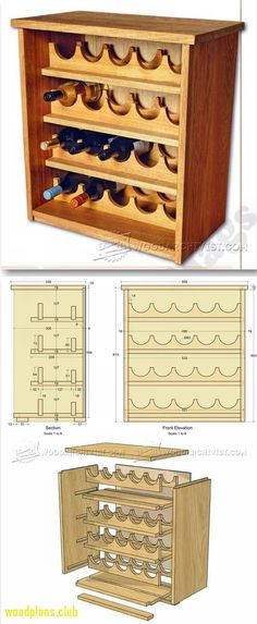 70+ Free Woodworking Plans Wine Rack - Cool Apartment Furniture Check more at http://glennbeckreport.com/free-woodworking-plans-wine-rack/ #winerack