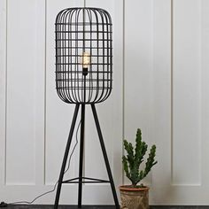 Hurricane Metal Floor Lamp in Black by BePureHome - All For Decoration Floor Standing Lamps, Interior, Lamp, Bamboo Floor Lamp, Flooring, Room Lamp, Lamps Living Room, Metal Floor Lamps, Floor Lights