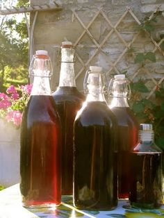 homemade cherry liqueur! Pretty decorative jars, a few glasses, tie a bow and easy gift