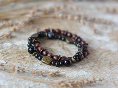 Wooden Bracelets Natural Wood Bracelets by BeautyThingsStudio