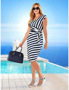 Guido Maria Kretschmer - Jerseykleid marine im Heine Online-Shop kaufen