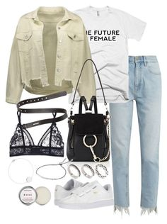 """""""Untitled #3696"""" by theeuropeancloset on Polyvore featuring M.i.h Jeans, Puma, Chloé, ASOS, Acne Studios, STELLA McCARTNEY, Michael Kors and Herbivore"""