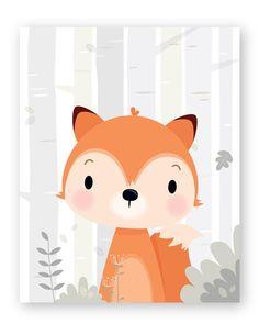 del bosque Set of 6 Woodland Nursery wall art - Forest animals Nursery Prints, Nursery Wall Art, Art Blanc, Art Carte, Adventure Nursery, Animal Nursery, Forest Animals, Woodland Nursery, Art Wall Kids