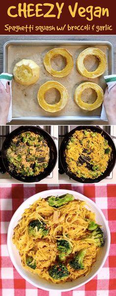 You Should Make This Cheezy Vegan Spaghetti Squash For Dinner Tonight: