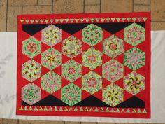 Kaleidoskop Quilt, ca. 160x200