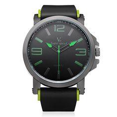 Sale 28% (6.99$) - V6 V0195 Super Speed Big Dial Number Rubber Men Wrist Watch