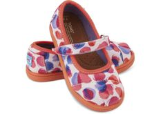 Pink Water Dot Tiny TOMS Mary Janes | TOMS