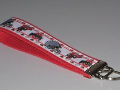 Ohio State Buckeyes Key Fob Wristlet by OnceDesignedbyDianne on Etsy
