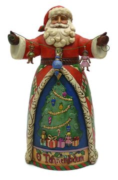 O' Tannenbaum [4022921] - $62.50 : The fifth in the Songs of Christmas series, this Santa remembers the classic O' Tannenbaum featuring wire garland and dangling resin ornaments and toys.