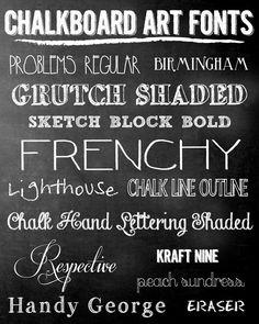 Pen N' Paper Flowers: iNSPiRE | FREE Chalkboard Fonts + Holiday Art Prints