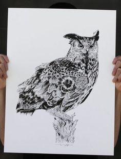 """Owl"" Art Print by Rghayati"