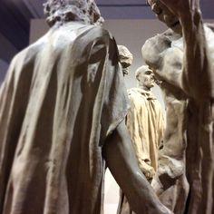 Bourgeois of Calais - Auguste Rodin -  chalk Ca'Pesaro Museum - Venice