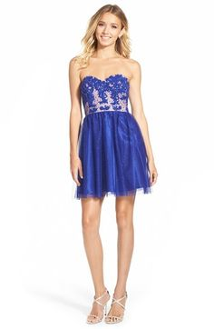 Jump+Apparel+Strapless+Lace+Bodice+Skater+Dress+available+at+#Nordstrom
