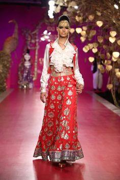 Pushing the borders of Indian Bridal Lengha Inspiration! Go Ritu Beri!