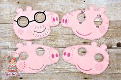 Peppa Pig Inspired Masks Mommy Pig Daddy Pig Brother George