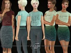 A simple printed T-Shirt for YA/A females.  Found in TSR Category 'Sims 3 Female Clothing'