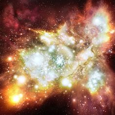 Artist's impression of the Lynx arc, a newly identified distant star cluster that contains a million blue-white stars twice as hot as similar stars in our galaxy. (Illustration: Hubble from ESA and NASA, and Robert A.E.)