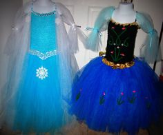 Elsa and Anna Frozen sisters combo dress set on Etsy, $50.00
