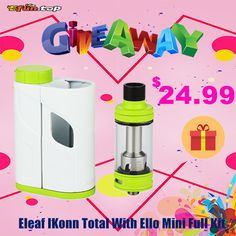 Eleaf IKonn Total With Ello Mini Full Kit - 2ml Giveaway!