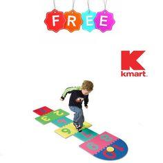 Free at Kmart : Creativity Street WonderFoam Hop Scotch Mat - http://couponsdowork.com/kmart-weekly-ad/kmart-freebie-hop-scotch-mat-dealio/