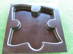 This Jigsaw Puzzle Stepping Stone Mould is a great way to build a stepping pathway through your garden It makes a stone which is approx x x deep This mould is made from a durable Plastic. Stepping Stone Pathway, Stepping Stone Molds, Garden Ornaments, Jigsaw Puzzles, Concrete, Store, Design, Larger, Puzzles