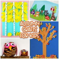 This list of autumn crafts for kids contains four weeks' worth of gorgeous autumn projects celebrating all the fun colours and themes of fall! Easy Fall Crafts, Fall Crafts For Kids, Toddler Crafts, Fun Crafts, Cool Art Projects, Fall Projects, Tree Crafts, Flower Crafts, Hedgehog Craft