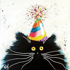 Kim Haskins Online Shop. Party Cat
