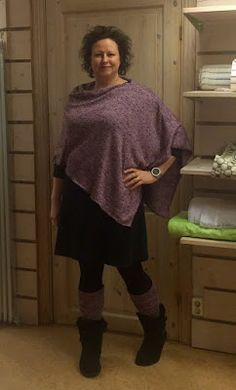 Syhäxan: Enkel poncho Tweed, Pullover, Sewing, Knitting, Skirts, Pattern, Sweaters, Jackets, Shawls