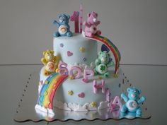 This is adorable. I love the bears & the rainbows. Someone please tell me they want a carebear cake! lol