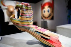 Haroshi is cool. This is made from his old skateboard decks.