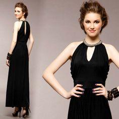 2013 fashion elegant slim thin waist evening dress dinner party sexy long design full dress one-piece dress