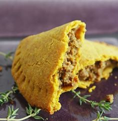 """Spicy and fragrant, these Jamaican Meat Pies or """"Patties"""" are the perfect handful of delicious lunch or dinner on the go! Before we get to the Jamaican Meat Pies recipe, I'm excited and honored Jamaican Meat Pies, Jamaican Beef Patties, Jamaican Patty, Jamaican Recipes, Low Carb Keto, Low Carb Recipes, Cooking Recipes, Easy Recipes, Diet Recipes"""