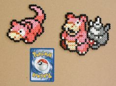 Pokemon Mini Bead Sprites - Slowpoke Slowbro by strepie93