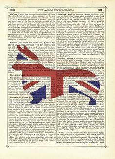 Jubilee Corgi - Vintage Dictionary Art Print  £6.50