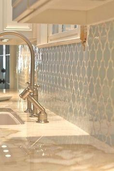 Kitchen backsplash - trellis tiles. Love this!