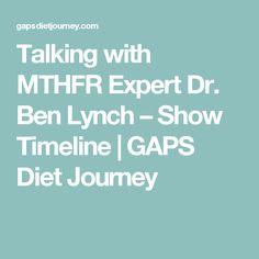 Talking with MTHFR Expert Dr. Ben Lynch – Show Timeline | GAPS Diet Journey