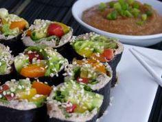 Raw Food Recipe: Raw Vegan Sushi with Spicy Mustard Sauce