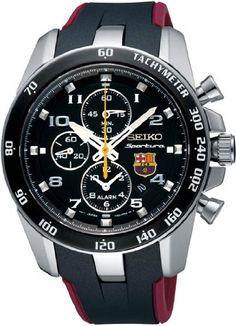 Men Seiko SNAE93 Barcelona Football Club Barcelona Sportura Stainless Steel Case seiko-sportura.com