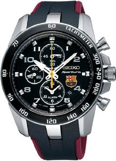 Seiko Sportura FC Barcelona Chronograph Black Dial Mens Watch SNAE93   Citizen Watches For You And Her