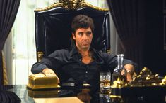 Scarface is a 1983 gangster film, a remake of the 1932 classic, directed by Brian De Palma staring Al Pacino in the role of a tempestuous Cuban emigrant, Tony Montana. Al Pacino, Scarface Film, Scarface Poster, Streaming Movies, Hd Movies, Movies To Watch, Movies Online, Movies, Backgrounds